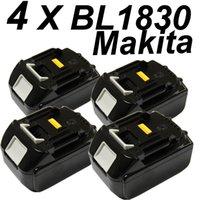 Wholesale 4 x New Makita BL1830 V AH Li Ion Battery for MAKITA BL1830 Battery A order lt no track