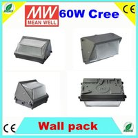 Wholesale 60W Public Building LED Wall Pack Mounted IP65 Waterproof W k Lm w Day White Years Warranty ETL meanwell driver Cree Chip