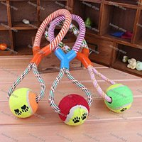 Wholesale New Pet Products Dog Ball Clean Teeth Pet Toy Puppy Chew Cotton Rope Ball Braided Bone Knot Toys Playing Supplies