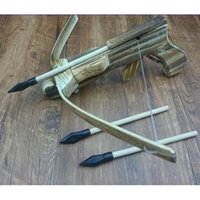 Wholesale Childreld Wooden Archery Set Crossbow Shooting Bows Arrows Fun Game Toy Gun