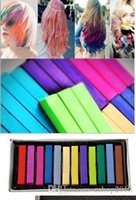 Wholesale Easy Temporary Colors Non toxic Hair Chalk Dye Soft Hair Pastels Kit Chalk Pastel Stick Vermicelli Chalk DIY Your Hair Set A2