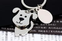 best cute keychains - High quality Spinning Cute Dog Keychain Key Chain Ring Unique KeyChain keyrings zinc alloy the best wedding Favor Key Fob Car Keychain