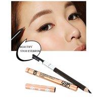 eyebrow shadow - Waterproof Eyebrow Pencil Liner Makeup Tool With Brush Shadow to Eyebrow Cosmetic W1303