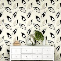 Cheap behang,Modern Leaf 3D Wallpaper for Walls,Rustic Non Woven Floral Wall Paper Roll for Living Room,Bedroom Wallpaper for Walls