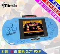 50PCS 2,7 pouces 16 bits joueur de jeu vidéo PXP3 console de jeux portable + carte SIM
