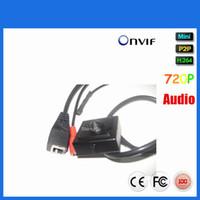 Wholesale Low Lux Onvif mm Lens P Hidden Pinhole Mini IP Video External microphone Camera For Home Security Pinhole Network Camera Hidden Spy