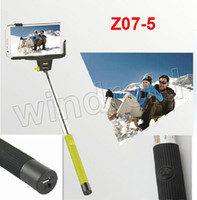 Wholesale DHL Z07 Bluetooth Handphone Shutter Bluetooth Handheld Camera selfie monopod Selfie stick for Iphone IOS Android Cell Phone cheapest