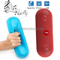 Wholesale Pill XL Bluetooth Mini Speaker Protable Wireless Stereo Music Sound Box Audio Super Bass U Disk TF Slot Hands free MP3 Player With Handle