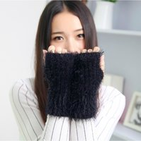Wholesale 2015 new fashion lady Mohair gloves half finger gloves warm thick wool knit gloves