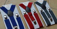 Wholesale 200pcs Unisex Kids Boy Girls Clip on Suspenders with Adjustable Elastic Braces Children Apparel Accessories
