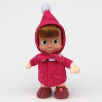 Wholesale 10inch CM Masha and bear figure toys Russia dolls Peluche Masha e orso Boneca Gifts For Girls