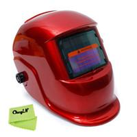 automatic tig welding - UV IR Protection Automatic Welding Mask Solar Auto Darkening Tig Mag Grinding ARC Welding Helmet Welding Supplies Red DH005 order lt n