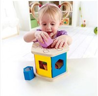 Wholesale Hape Shake and Match Shape Sorter Children Classical Building Blocks Childhood Educational Wooden Christmas Toy