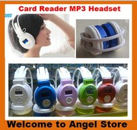 Wholesale Sport MP3 Earphone Music Player LCD Mirco Headphone Foldable Wireless FM Radio Headset FM Radio TF Card Reader Earphone