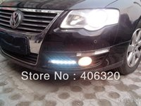 Cheap Free shipping,2x LED DRL Driving Daytime Running Day Fog Lamp Light for Volkswagen Passat B6 1:1replace