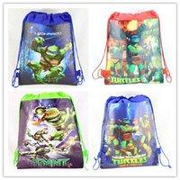 Wholesale Hot sale New TMNT Teenage Mutant Ninja Turtles drawstring bags backpacks handbags children bags shopping bags