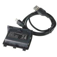 Precio de Controladores de xbox para la venta-El más nuevo de la venta caliente 2400mAh batería recargable Cable Plus para el regulador de Xbox Uno Kit de carga de alta calidad de la vía orden $ 18Nadie