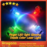 Wholesale 1000pcs kits LED Finger Light Glowing Dazzle Colour Laser Emitting Finger Ring Beams Ring Torch Wedding Party Christmas Celebration