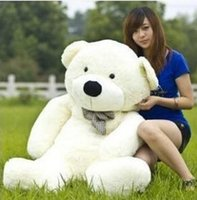 Wholesale 2015 New Arriving Giant CM inch TEDDY BEAR PLUSH HUGE SOFT TOY Plush Toys Valentine s Day gift colours White z