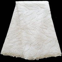 french lace - 2016 New Arrival French African Lace Polyester Materials with Rhinestones Stocklots Nigerian White Lace yards per polybag