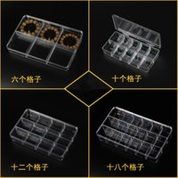 acrylic tea box - Acrylic Portable Compartment Grids TEA PILL Jewelry Storage Box containers Holder Kit