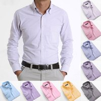 oxford shirts - New Plaid Shirt Men Mens Casual Long sleeve Stylish Oxford Shirts Men s Fashion Cotton Shirt S XL MCL049