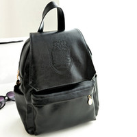 Wholesale High quality Backpack casual preppy style vintage bag all match bag PU student backpack