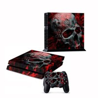 For Kindle 36270 new New Fashion CA Skull Sticker For Sony for PS4 Console 2 Skin Decal Black Durable Dustproof Decorate Cool