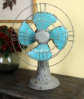 Wholesale LOFT industrial wind do the old fan desktop piggy bank ornaments personalized gift table furnishings piggy bank