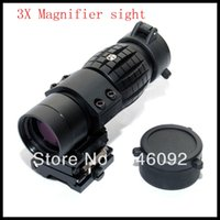 Wholesale Hunting X Magnifier Sniper Airsoft Rifle Scope Sight with QD Flip To Side for mm Rail Mounts