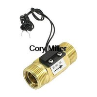 Wholesale DC250V Brass G3 mm Male Thread Port Magnetic Water Flow Switch L min order lt no track