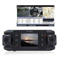 Precio de Cámaras de lentes de porcelana-Dual Lens Car Dvr Cámara Dos Lentes Vehículo DVR Dash Recorder GPS G-sensor