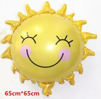 aluminum table sets - 50pcs new sun smiling face of the aluminum film balloon festival party wedding marriage room decorate the balloons