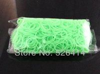 Cheap quallity 6Bags Glow In The Dark Rubber Bands Refills Packs Colorful Loom Bands With 600 Bands+24S-Clips