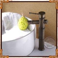 bamboo basin faucet - Bathroom Faucet Bamboo design sink Bathroom Mixer Tap antique brass Single handle basin faucet Deck Mounted basin tap GY g89