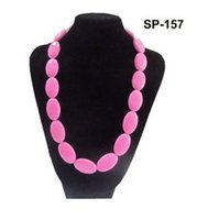Wholesale Baby Teether Necklaces Mommy Necklace Beads Silicone Pendant Teething Baby Chew jewellery Necklaces