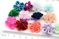 Hair Ribbons baby hair accessories apparel - Baby Girl Hair Bows Ribbons Wedding Party Decor Little Gift Rose Jewelry Apparel Accessories Flower Brooch