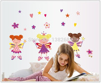 Wholesale The Little Girl of Love Wall Stickers Living Room TV Sofa Background bedroom Romantic Marriage Room Decor Decals AY7010