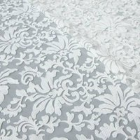 fabric for wedding dress lace - 2015 cotton embroidery accessories fashion organza lace fabric white lace fabric for wedding dress