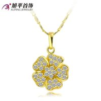artificial jasmine flowers - Xuping clavicle chain necklace female flowers artificial gems zircon luxury Jasmine new hypoallergenic short paragraph