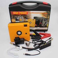 Wholesale Multi Function mAh V Car Battery Power Bank Car Jump Starter Emergency Safety Protection LED Yellow