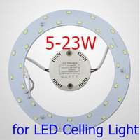 Wholesale W LED Ceiling Light Source AC90 V SMD5730 LED Round Ceiling Board the Circular Lamp Board