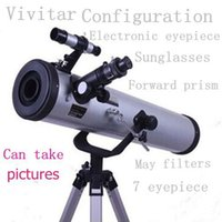 Cheap Astronomical Telescopes W76 Ultra HD high-powered night vision viewing times video camera connected to a computer