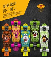 long board - Maple four wheel skateboard Original design and unique monster fish plate Adult brush Street board suitable to kid and teenagers Hot sale