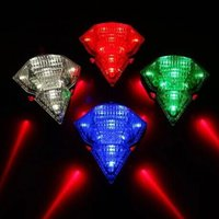 batteries brake - Diamond Bicycle laser light laser taillights brake Safety warning light red blue green white colors With mAh built in battery DC V