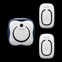 Wholesale Two drag an AC digital remote wireless remote doorbell wireless doorbell waterproof genuine home