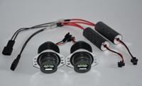 LED light Left 1156 1157 36mm PK22S 39mm H7 T5 H4 T10 H china wholesale E90 80W 2x40W CREE 8LED BMW Angel Marker Eye Lamp Halo Bulb Headlight Xenon White For BMW E90   E91