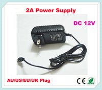Wholesale Promotions A A V Power Supply strip Adapter Transformer with US EU AU UK Plug For RGB LED Strip Light A just for