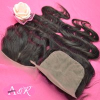 Cheap Free Shipping Brazilian Hair Closure Body Wave Natural Color 1Pcs Silk Based Closure Sale
