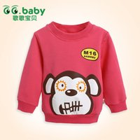 red monkey - 2015 Newborn Bebe Clothes Spring Autumn Fashion Rose red Monkey Tops Long Sleeve For Baby Girl Baby Boy Cotton Tees